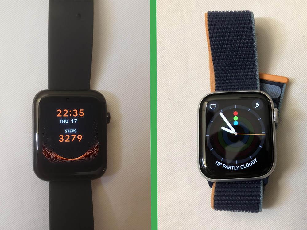 Ticwatch GTH și Apple Watch Series 6